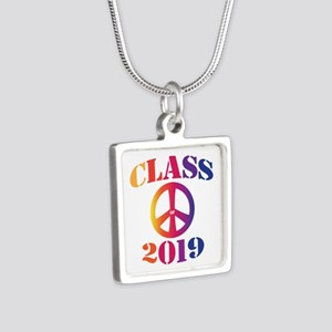 Class of 2019 Silver Square Necklace