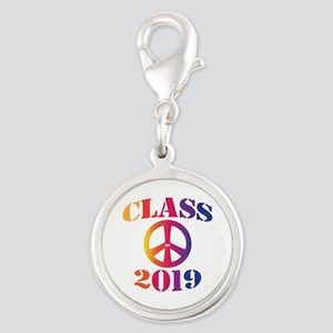 Class of 2019 Silver Round Charm