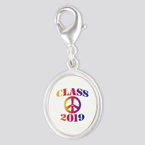 Class of 2019 Silver Oval Charm