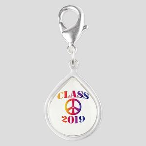Class of 2019 Silver Teardrop Charm