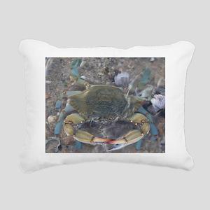 Coastal Crab Rectangular Canvas Pillow