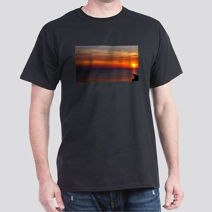 Red Sunset Over Atlantic Ocean (1) T-Shirt