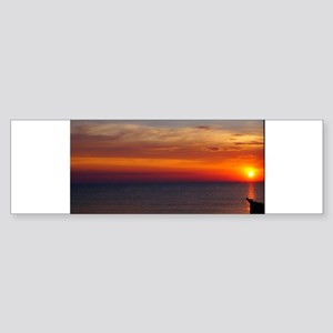 Red Sunset Over Atlantic Ocean (1) Bumper Sticker