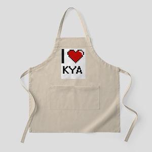 I Love Kya Digital Retro Design Apron