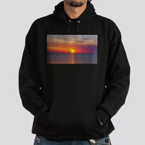 Red Sunrise Over Ocean (2) Hoodie (dark)