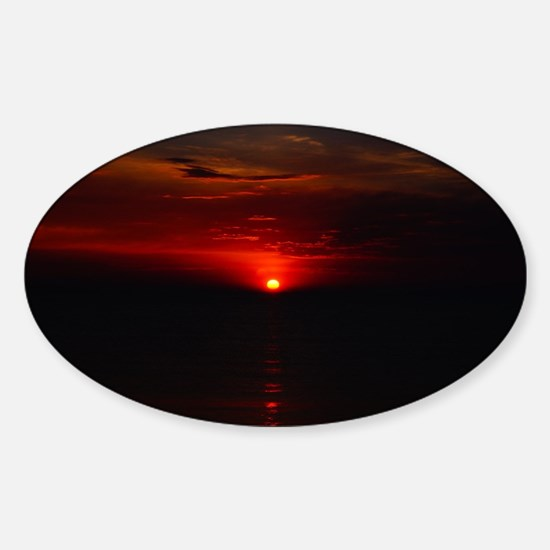 Red Sunrise Over The Atlantic Ocean in Jun Decal
