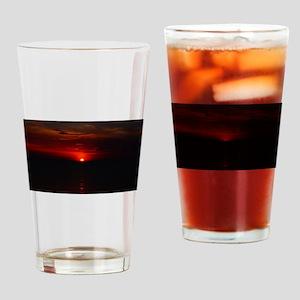 Red Sunrise Over The Atlantic Ocean Drinking Glass