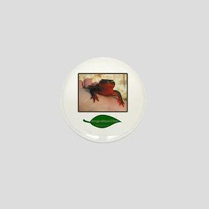 Rough Skinned Newt Salamander Mini Button