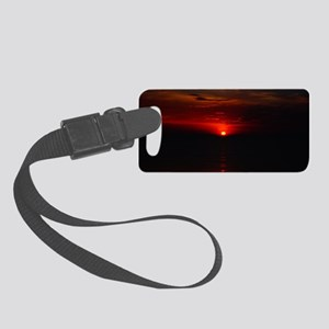 Red Sunrise Over The Atlantic Oc Small Luggage Tag