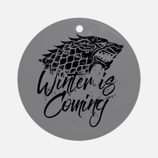 GOT Winter Is Coming Round Ornament