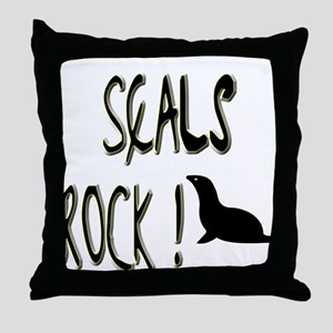 Seals Rock ! Throw Pillow