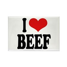 I Love Beef Rectangle Magnet