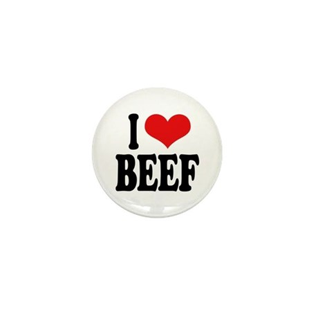 I Love Beef Mini Button (100 pack)