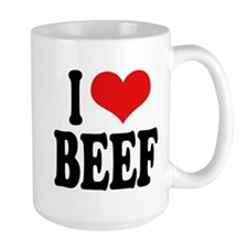 I Love Beef Large Mug