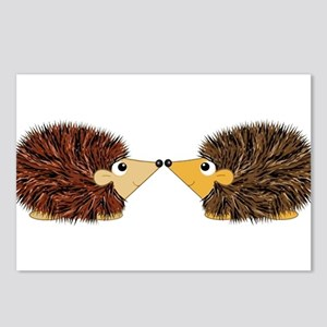 Cuddley Hedgehog Couple R Postcards (Package of 8)
