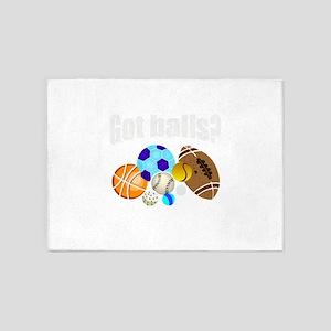 Games got balls 5'x7'Area Rug
