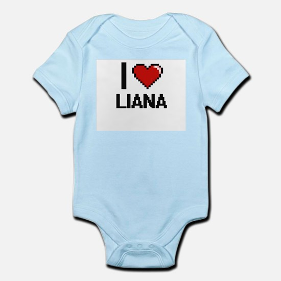 I Love Liana Digital Retro Design Body Suit