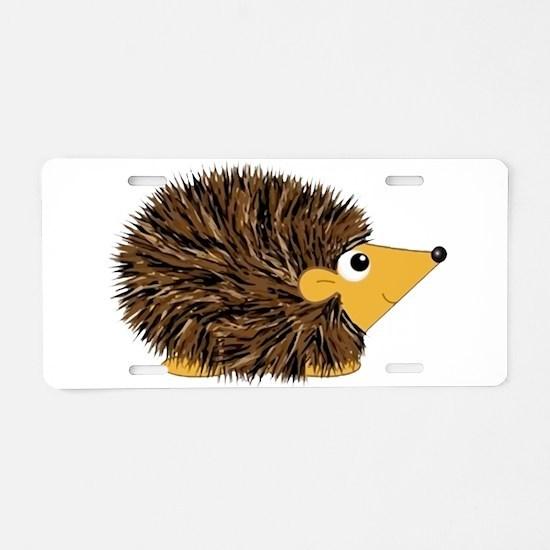 Prickley Hedgehog Aluminum License Plate