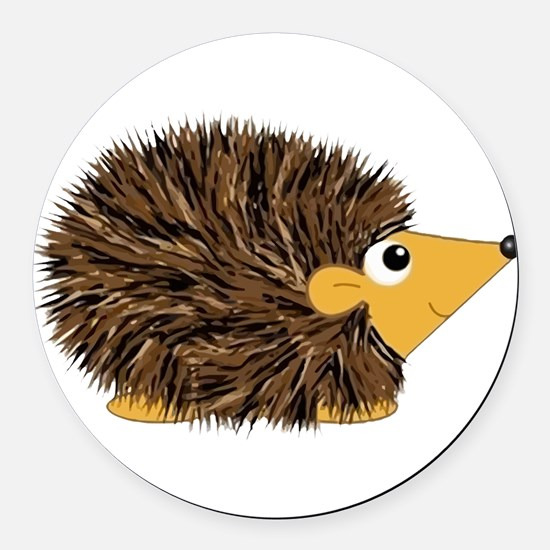 Prickley Hedgehog Round Car Magnet
