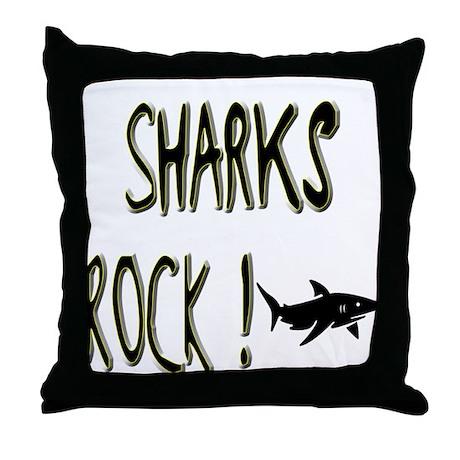 Sharks Rock ! Throw Pillow