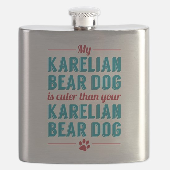 Karelian Bear Dog Flask