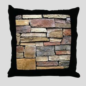 Brick Stone Wall Throw Pillow