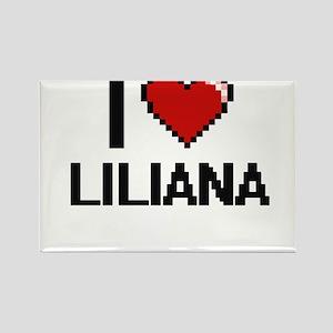 I Love Liliana Digital Retro Design Magnets