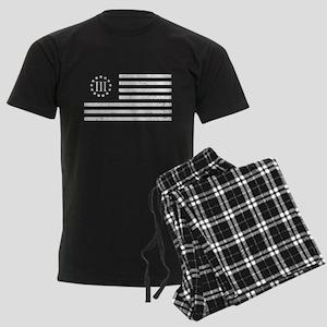 III Percenters Oath Keepers Men's Dark Pajamas