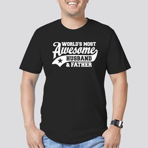 World's Most Awesome H Men's Fitted T-Shirt (dark)