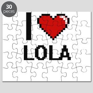 I Love Lola Digital Retro Design Puzzle