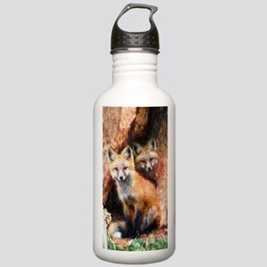 Fox Cubs in Hollow Tre Stainless Water Bottle 1.0L