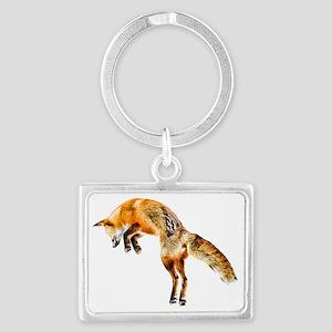 Leaping Fox Landscape Keychain