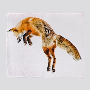 Leaping Fox Throw Blanket