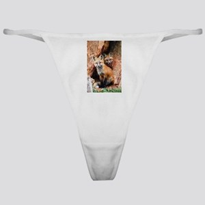 Fox Cubs in Hollow Tree Classic Thong