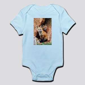 Fox Cubs in Hollow Tree Body Suit