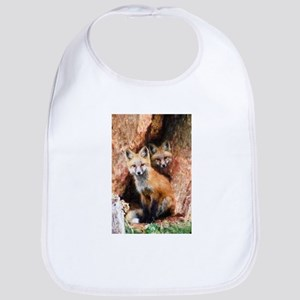 Fox Cubs in Hollow Tree Bib