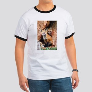 Fox Cubs in Hollow Tree T-Shirt