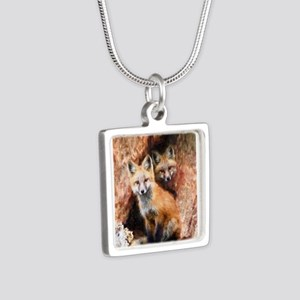Fox Cubs in Hollow Tree Necklaces