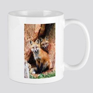 Fox Cubs in Hollow Tree Mugs