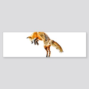 Leaping Fox Bumper Sticker