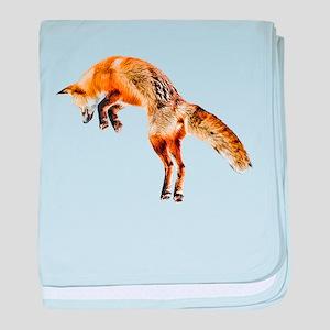 Leaping Fox baby blanket