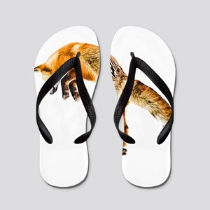 Leaping Fox Flip Flops