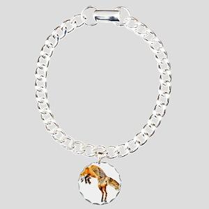 Leaping Fox Charm Bracelet, One Charm
