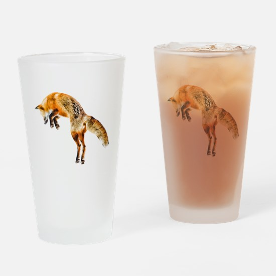 Leaping Fox Drinking Glass