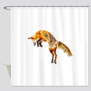 Leaping Fox Shower Curtain
