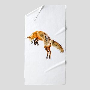 Leaping Fox Beach Towel