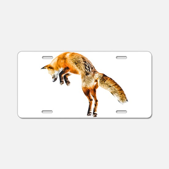 Leaping Fox Aluminum License Plate