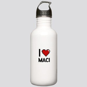 I Love Maci Digital Re Stainless Water Bottle 1.0L