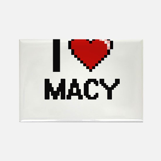 I Love Macy Digital Retro Design Magnets