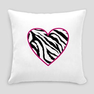 zebra heart Everyday Pillow
